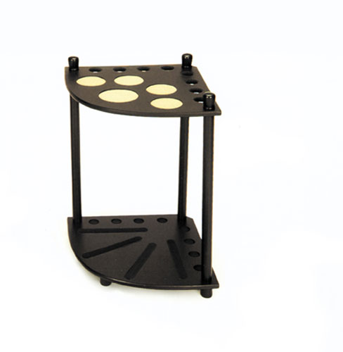 POOL-SNOOKER-BILLIARD-CUE-STAND-RACK-Black-Corner-Drink-Ball-Holder