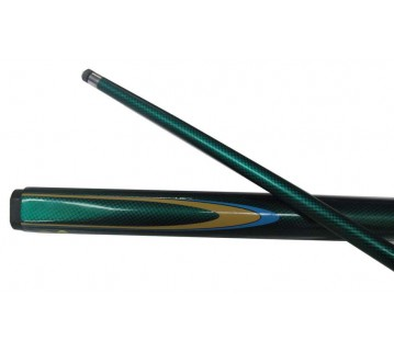 EC Pool/Billiard Cue Dark Green Blue & Yellow Flame