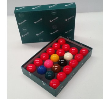 ARAMITH SUPER SNOOKER BALL SET 2 INCH (15 RED + COLOURS)