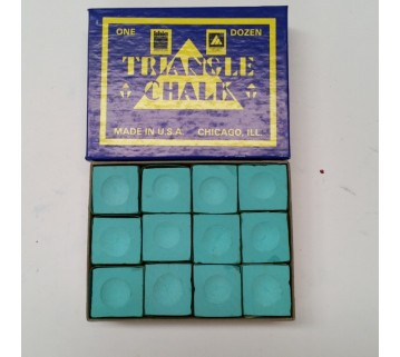 Triangle Pool Snooker Chalk 12 pieces Green MADE IN USA