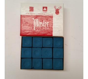 Masters billiard Pool Snooker Blue Chalk 12 pieces