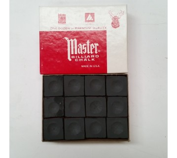Masters billiard Pool Snooker Black Chalk 12 pieces