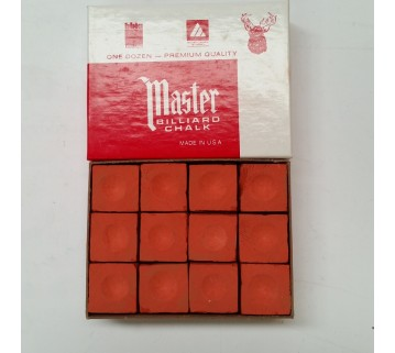 Masters billiard Pool Snooker Rust Chalk 12 pieces