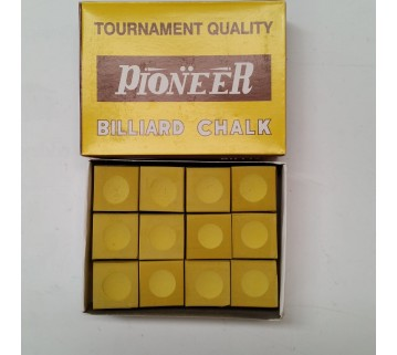 Pioneer Billiard Pool Snooker Chalk 12 pieces Yellow