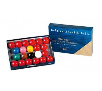 ARAMITH TOURNAMENT CHAMPIONSHIP SNOOKER BALL SET 2 1/16 INCH