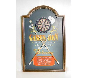 THREE DIMENSIONAL GAMES DEN ROOM SIGN