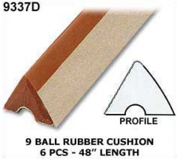 9 BALL TABLE CUSHION RUBBER x 6 pcs
