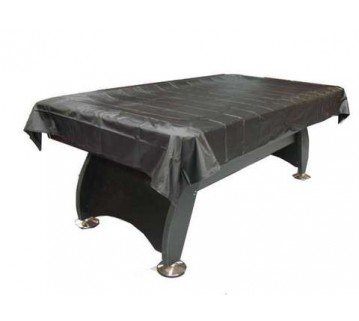 Economic 8 Foot Black Vinyl Pool Table Cover