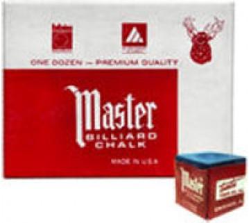 Masters billiard Pool Snooker Blue Chalk 12 pieces