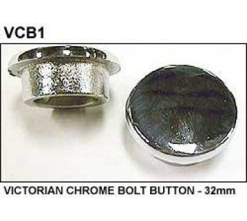 VICTORIAN CHROME BOLT BUTTON - 32mm