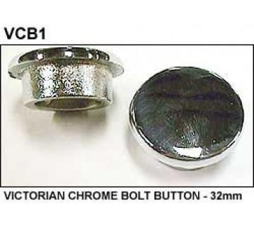 VICTORIAN CHROME BOLT BUTTON - 32mm
