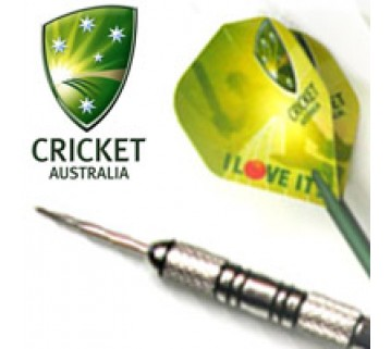 Official Cricket Australia Darts - 3 Nickel Silver Dart