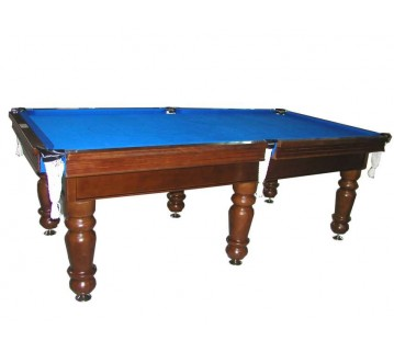 Charlton Professional Slate Pool Table Teak 9F Blue