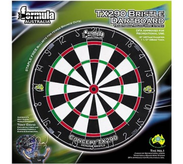 Genuine Bristle Tournament DartBoard + 6 Free Darts