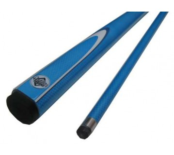 Pool Billiard Cue Blue Fluoro with White & Blue Flame 54 inch