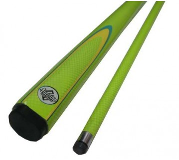 Pool Cue Green Fluoro with Yellow & Green Flame 54 inch