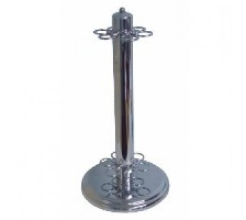 NEW CHROME FREE STANDING CUE RACK STAND