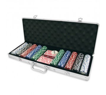 500 PIECE POKER GAME SET ALUMINIUM CASE NUMBERED CHIPS