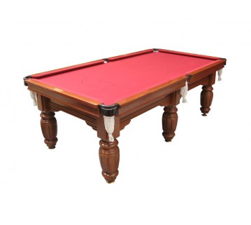 Charlton Legend Slate 6 leg Pool Table Teak 9F Burgundy