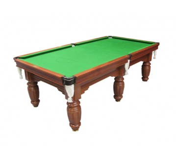 Charlton Legend Slate 6 leg Pool Table Teak 9F Green