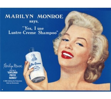 Marilyn Monroe Lustre-Cream Tin Sign