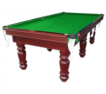 Charlton Pro Slate 6 leg Pool Table Mahogany Green 8F