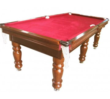 Charlton Pro Slate 6 leg Pool Table Mahogany Burgundy 9F