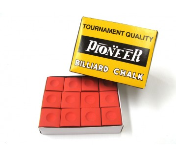 Pioneer Billiard Pool Snooker Chalk 12 pieces Red