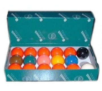 ARAMITH SUPER SNOOKER BALL SET 2 INCH (10 RED + COLOURS)