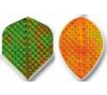 Irridescent Embossed Dart Flight Standard shape Set of 3