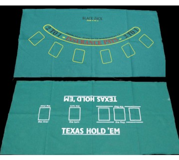 Black Jack Felt Table Cloth