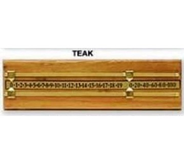 Teak Wooden Scoreboard Brass Rails and Pointers