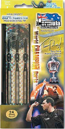 Tony David 80% Tungsten Darts - Boxed set of 3 - 20gm
