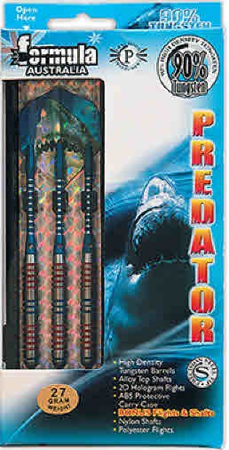 Predator 90% Tungsten Darts - Boxed Set of 3 - 27gm