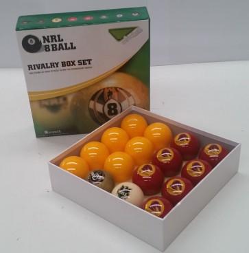 NRL Licensed POOL BALLS - 16 Pack - Brisbane BRONCOS