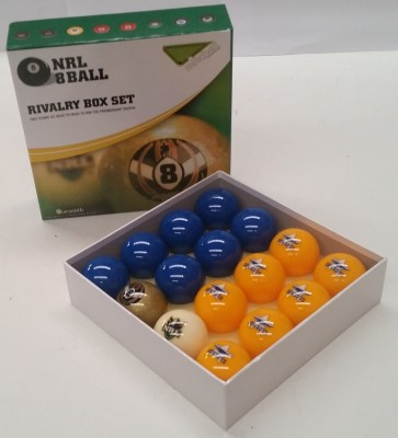 NRL Licensed POOL BALLS - 16 Pack - North Queensland COWBOYS