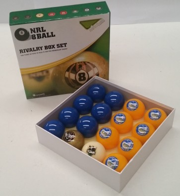 NRL Licensed POOL BALLS - 16 Pack - Parramatta EELS