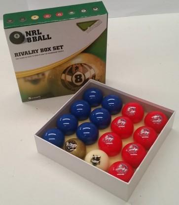 NRL Licensed POOL BALLS - 16 Pack - Sydney ROOSTERS