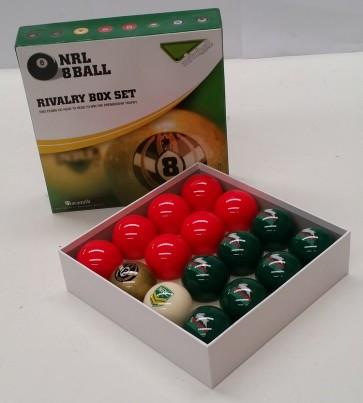 NRL Licensed POOL BALLS - 16 Pack - South Sydney RABBITOHS