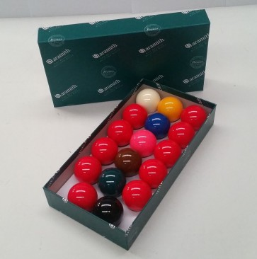 ARAMITH STANDARD SNOOKER BALL SET 2 INCH (10 RED + COLOURS)