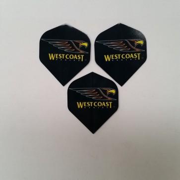 AFL Licensed DART FLIGHTS x 3 - West Coast EAGLES