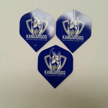 AFL Licensed DART FLIGHTS x 3 - North Melbourne KANGAROOS