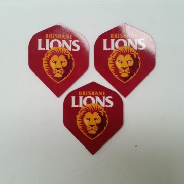 AFL Licensed DART FLIGHTS x 3 - Brisbane LIONS