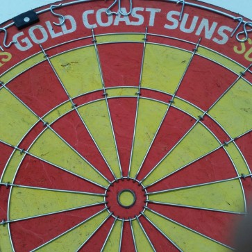 AFL Licensed DARTBOARD - Gold Coast SUNS