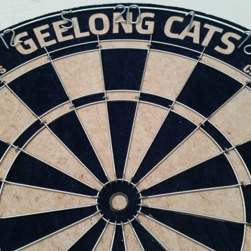 AFL Licensed DARTBOARD - Geelong CATS