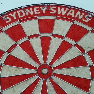 AFL Licensed DARTBOARD - Sydney SWANS