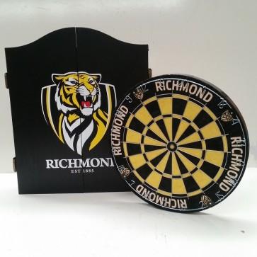 AFL Licensed DARTBOARD PACK - Richmond TIGERS