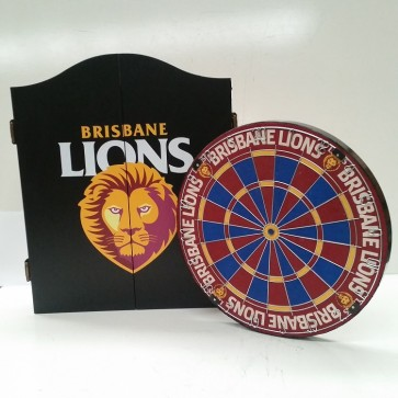 AFL Licensed DARTBOARD PACK - Brisbane LIONS