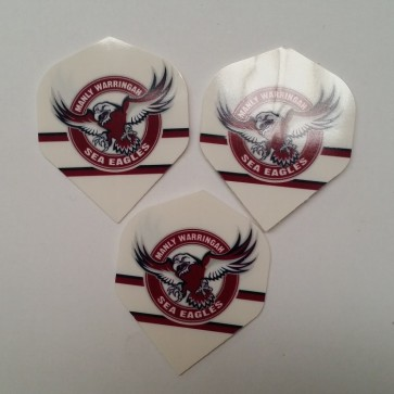NRL Licensed DART FLIGHTS x 3 - Manly Warringah SEA EAGLES