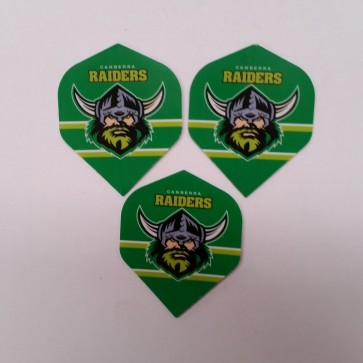 NRL Licensed DART FLIGHTS x 3 - Canberra RAIDERS